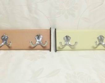 Shipment / pink and yellow leatherette / Decoration and collection / coat rack