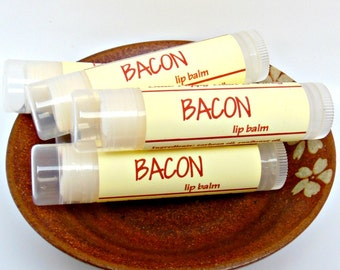 Bacon Lip Balm, Gag Gift, Gift for Dad, Gift for Boyfriend, Novelty Gift, Bacon Flavored Chapstick, Bacon Gift Idea, Funny Dad Gift