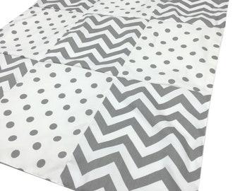 "Gray Chevron Blanket 30"" x 40"""