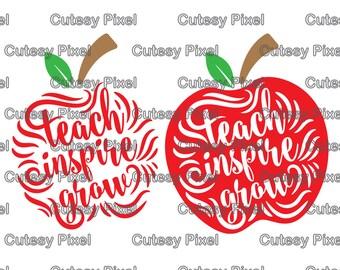 Teacher Design Svg cutting file, teacher svg, school svg, pencil svg, apple SVG, DXF, Cricut Designs, Digital Cut Files, phrases svg