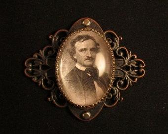 Steampunk Poe Pin