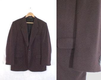 mens felted wool blazer size 44R. red purple blazer. 80s blazer. mens blazer 44R. mens sport coat. mens jacket.