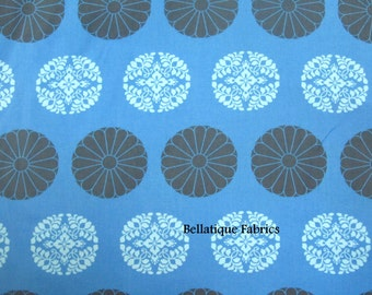 Clearance 1 Yard Amy Butler Pressed Flowers From the CAMEO Collection, in Cobalt