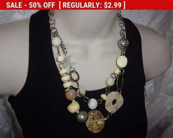 Vintage beaded necklace for wear or craft TLC