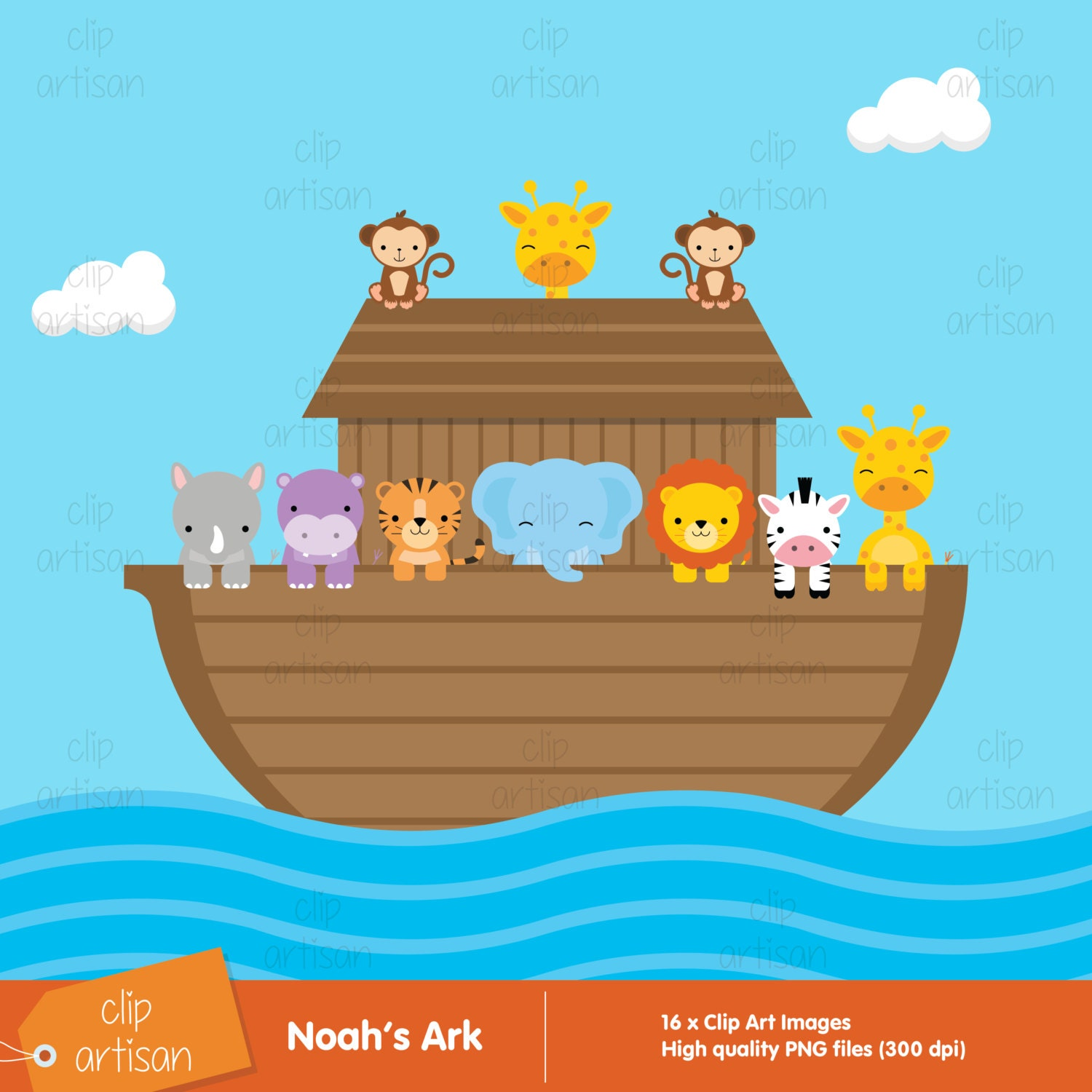 noah s ark clipart ark clip art animal clipart rh etsy com noah's ark clip art for children name tags noah's ark clipart free images