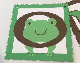 Sample Sale Frog High Chair Banner, Frog Party, Frog Birthday, First Birthday