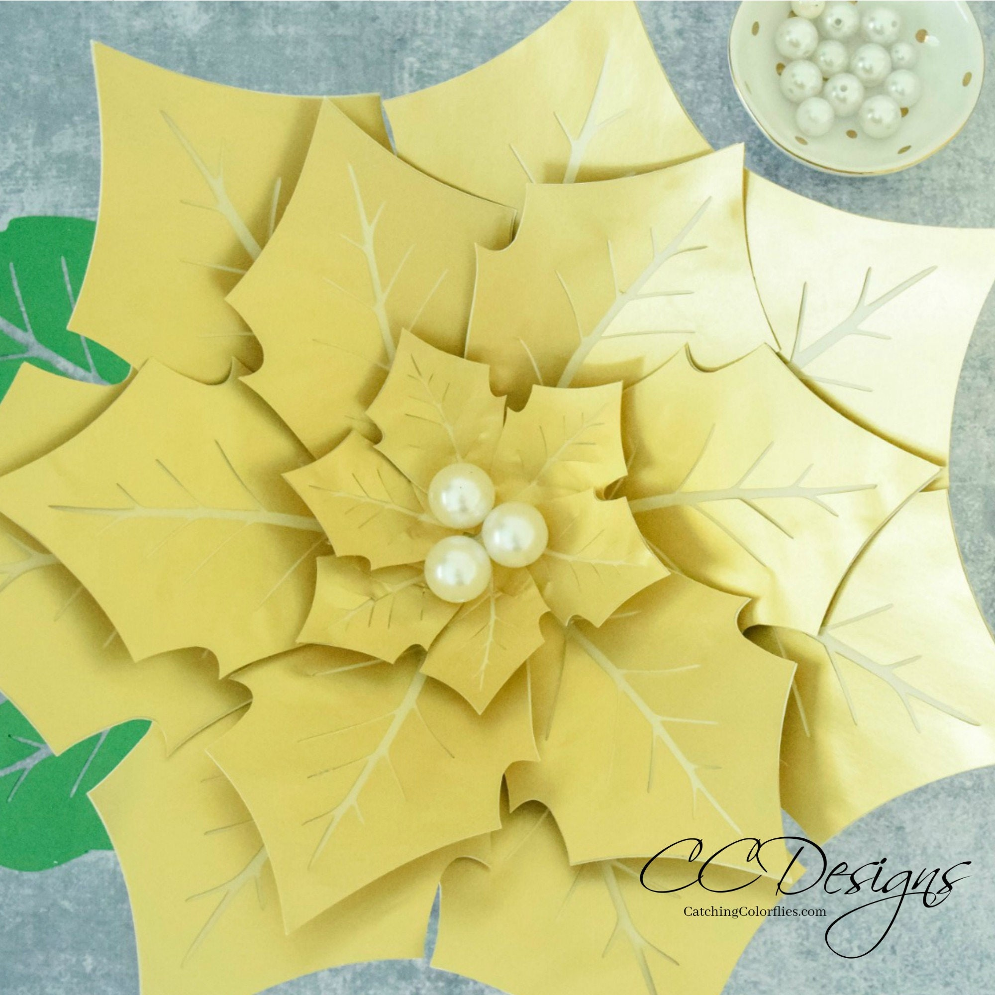 Giant Paper Poinsettia Flowers Paper Flowers Printable