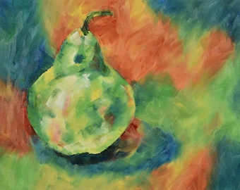 Kitchen Decor, Original Painting, Pears, Oil Painting, Painting On Canvas, Home Decor, Wall Art, Modern Art