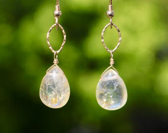 Cracked Crystal earring