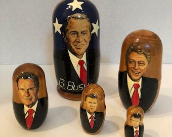 George Bush President Nesting Dolls