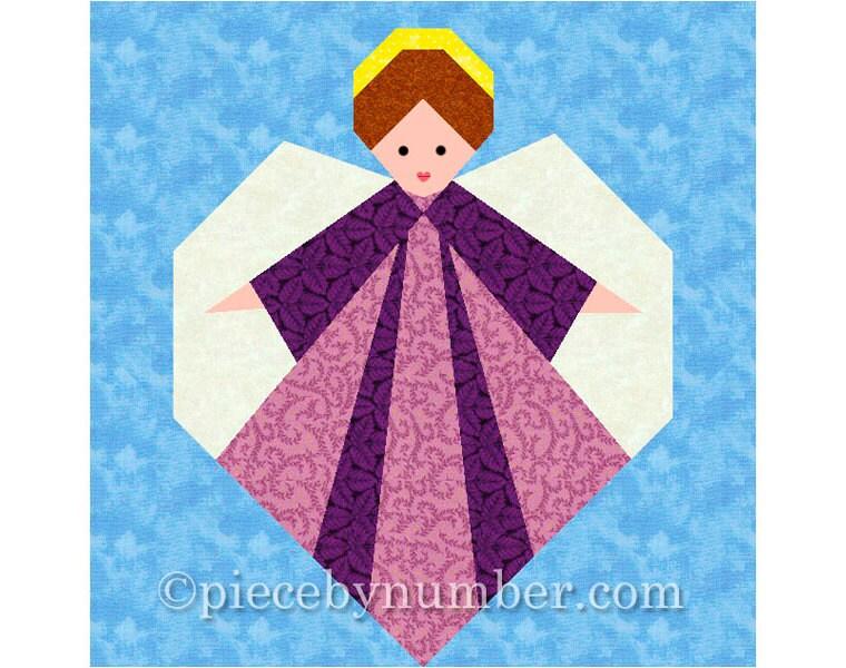 Guardian Angel quilt block paper pieced quilt patterns PDF : pieced quilt patterns - Adamdwight.com