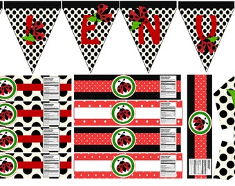 Lady Bug!!! Printable party set!!! Digital!! DIY!!