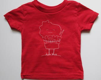 Red Wisconsin Home Infant/Toddler T-shirt