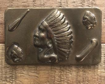 Native American Pin (modified belt buckle)