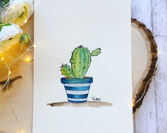 Cacti pen and ink