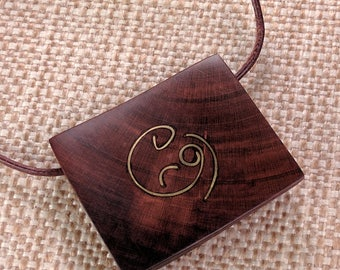Mother and Baby Pendant - Plum Wood