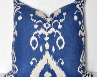 IKAT PILLOW COVER // Blue Ikat Pillow, Ikat Pillow, Blue pillow, Ikat pillow, Cushion cover, Cobalt Blue