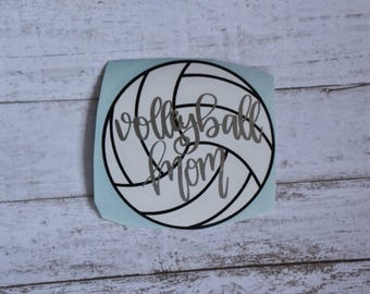 Volleyball Mom Sticker Volleyball Mom Decal Volleyball Sticker Volleyball Decal Volley Ball Sticker Volley Ball Decal
