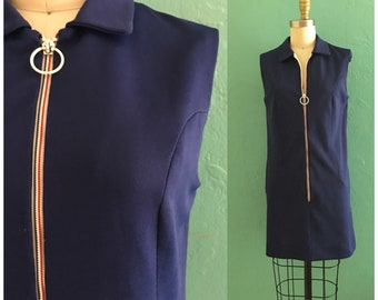 vintage 60's navy scooter dress // mini shift dress