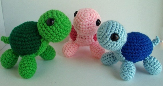 Amigurumi Turtle Pattern : Crochet turtle pattern