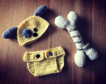 Baby Puppy Crochet Costume