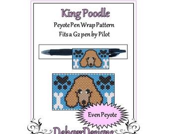 Peyote Beading Pattern (Pen Wrap/Cover)-King Poodle