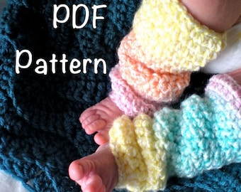 PATTERN:  Toddler & Baby Leg Warmers, 4 sizes, Slouchy, Easy Crochet PDF, InStanT DownLoaD, Baby Girl sizes NB-24m, Permission to Sell