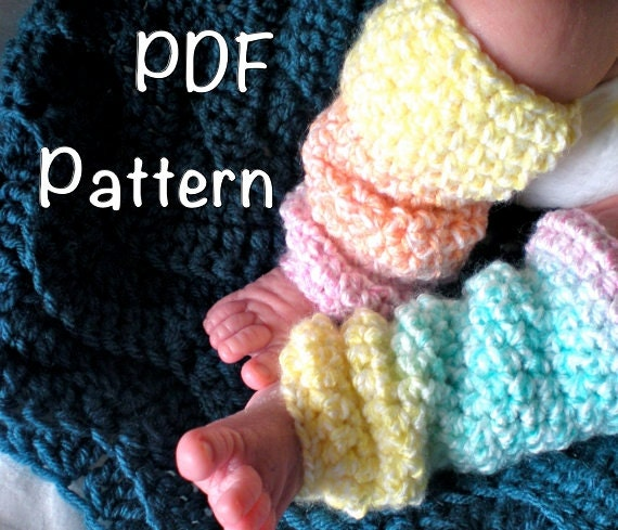 Pattern Toddler Baby Leg Warmers 4 Sizes Slouchy Easy Crochet