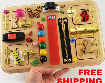 Free shipping Travel busy board Personalized toys Toys for toddler Montessori for girls Toys for autism Baby gifts  Baby toys Toy for boy