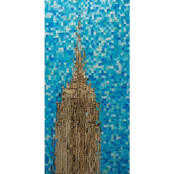 "Empire State Building Distortion 1: 18""x36"""