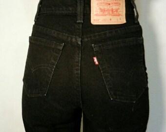 LEVI'S HIGH WAIST Vintage Jeans Black Denim Wash Gift Womens 2 3 4 5 6 7 8 9 10 11 24 25 26 27 28 29 30 31 32 33 34 35 36 Authentic Slim Fit