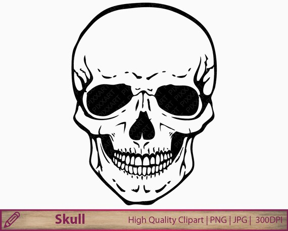 skull clipart human skull clip art horror halloween illustration rh etsystudio com clipart skull and crossbones free clipart skulls free