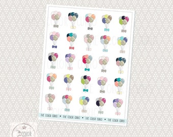 Colorful Balloon Stickers
