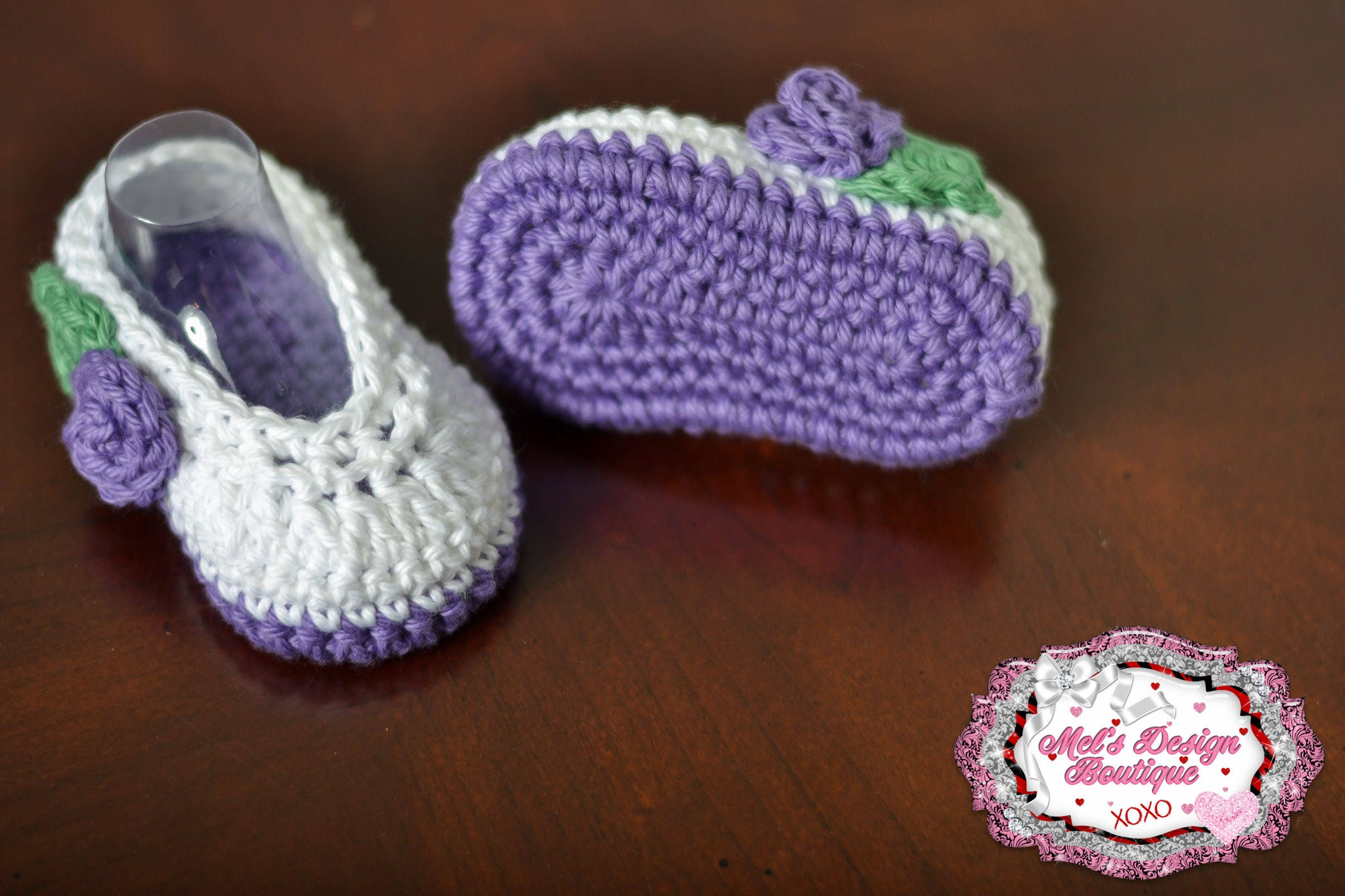 crochet baby booties purple baby shoes crochet baby