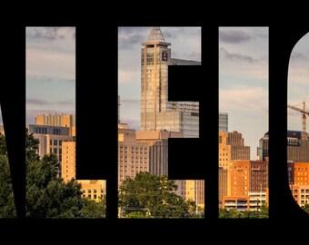 Raleigh,NC,North Carolina,Downtown,Abstract,Artistic,Skyline,Raleigh Skyline,Specialty,Wall Art,Home Decor