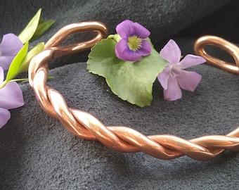 Heavy Copper Twist Cuff Bracelet