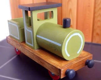 Miniature Wooden Toy Train Engine Large