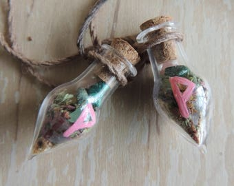 Friendship spell bottle necklaces
