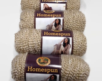 Lion Homespun yarn, homespun yarn rococo, variegated yarn, homespun yarn Pearl, Bulky yarn, Lion Brand yarn, Lion Brand Homespun yarn
