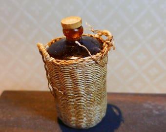 Woven bottle - 12th scale miniature