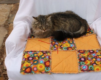Cat Bed, Cat Blanket, Cat Quilt, Pet Supplies, Crate Mat, Luxury Cat Bed, Small Dog Blanket, Handmade Pet Blanket, Pet Bedding, Cat Mat
