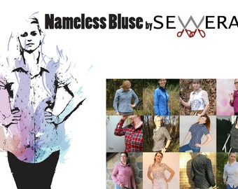Nameless Shirt sewing pattern and instruction by Sewera