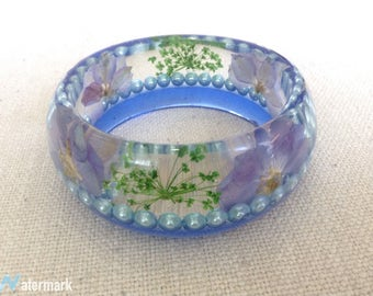 Real Flower Resin Bangle/ Gifts For Mother In Law/ Gifts For Women Who Have Everything/ Cool Gifts For Women/ Unique And One Of A kind
