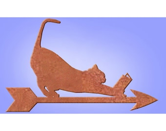 "Dog, Cat, Bunny Reading Weather Vane - Support Rod & NSEW finder Sold Separately. Check my ""Accessories"" Listing."
