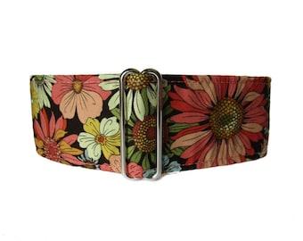 Fall Martingale Dog Collar, 2 Inch Martingale Collar, Fall Dog Collar, halsbänder für hunde, Whippet Collar, Autumn Dog Collar