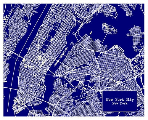 July 4th sale 15 off new york city blueprint map poster art print gallery photo gallery photo malvernweather Gallery