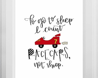 I Count Race Cars Not Sheep