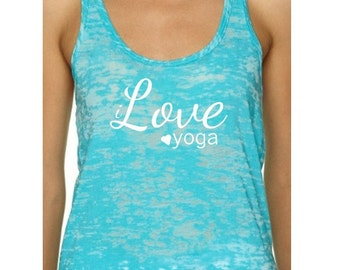 Yoga tank. Tank top. Yoga. Fitness. Exercise. Motivation.