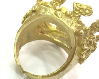 Raw Brass Adjustable Ring Blank (20 mm Blank)  G4164