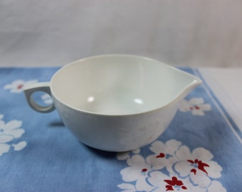 White Melmac Creamer Pitcher